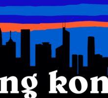 Hong Kong, China. Chinese skyline silhouette Sticker