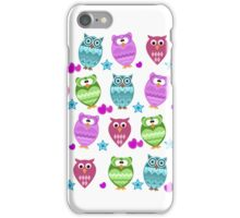funny owls iPhone Case/Skin