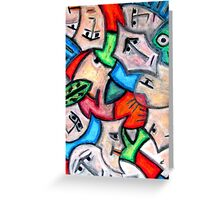 Pastel heads by rafi talby Greeting Card