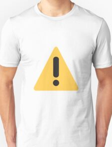 Warning sign Emoji Unisex T-Shirt