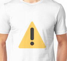 Warning sign Emoji Unisex T-Shirt