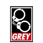 OBEY GREY iPhone/iPod Case by Simon Kelshaw