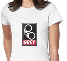 OBEY GREY Clothing Womens Fitted T-Shirt