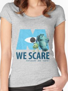 We Scare Because We Care! w/ Sulley and Mike Women's Fitted Scoop T-Shirt