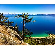 East Shore Lake Tahoe - Sand Harbor from Flume Trail Photographic Print