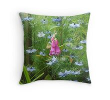 Fox glove and love in the mist Throw Pillow