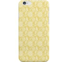 White Floral Pattern iPhone Case/Skin