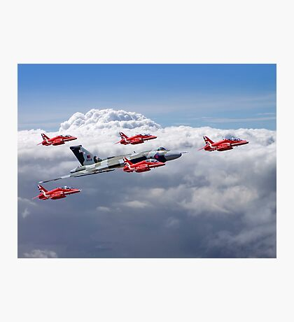 Final Vulcan Flight With The Red Arrows  - 3 Photographic Print