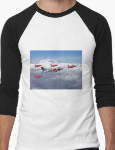 Final Vulcan Flight With The Red Arrows  - 3 Men's Baseball ¾ T-Shirt