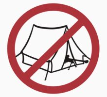 No Camping (blk) by Benjamin Whealing