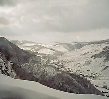 On the Way From Switzerland to France through the Snowy Mountains by JennyRainbow