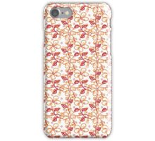 Polka Dots And Flowers Pattern iPhone Case/Skin
