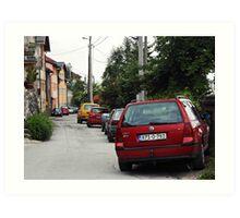 The cars Art Print