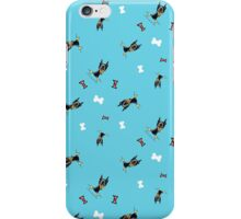 Min Pins, Bones and Bows Teal iPhone Case/Skin