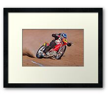 Beach racing #34 Framed Print