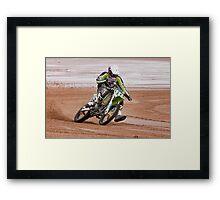 Beach racing #117 Framed Print