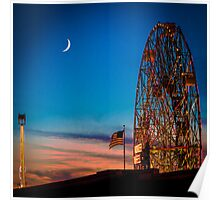 Twilight at Coney Island Poster