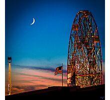 Twilight at Coney Island Photographic Print