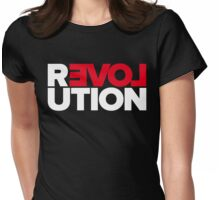 Revolution of love (white text) Womens Fitted T-Shirt