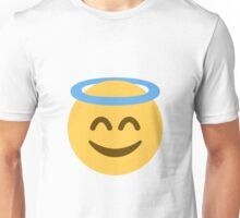 Smiling Emoji With Halo Unisex T-Shirt