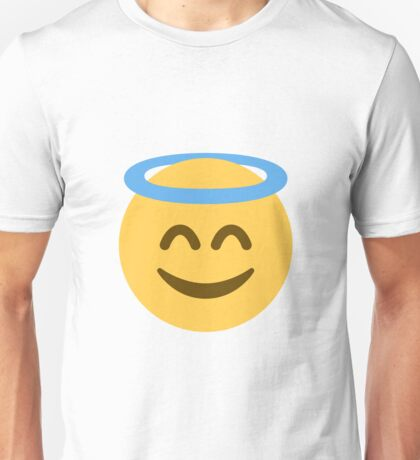 Smiling Emoji With Halo Unisex T-Shirt