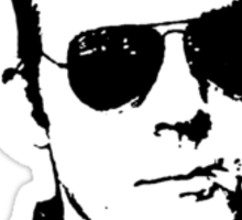 Hunter S Thompson - Smoking Sticker