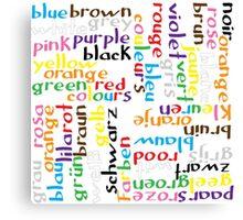 Colour language Canvas Print