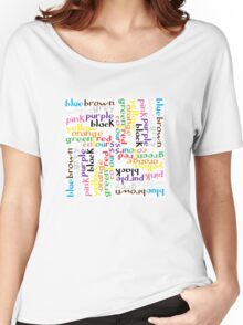 English colour words IV Women's Relaxed Fit T-Shirt