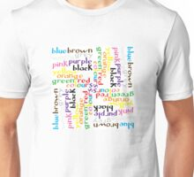 English colour words IV Unisex T-Shirt