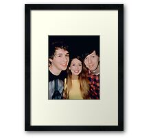 zoe, dan, & phil Framed Print