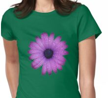 Purple African Daisy with Raindrops Isolated Womens Fitted T-Shirt