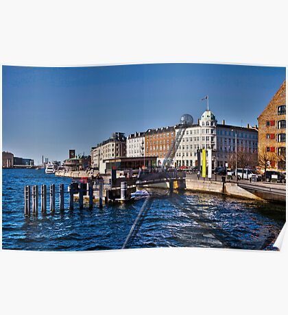 Entrance to Nyhavn - New Harbor. Poster