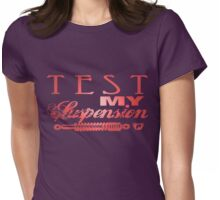 Test My Suspension - Pink Womens Fitted T-Shirt