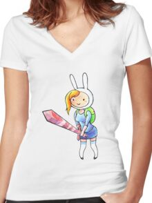 Fionna Women's Fitted V-Neck T-Shirt