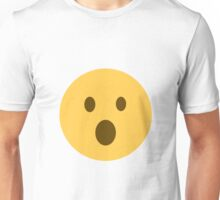 face with open mouth emoji Unisex T-Shirt
