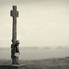 St Mathieu - Children and the Cross. by Jean-Luc Rollier