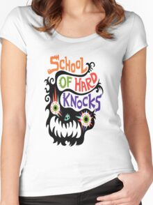 School Of Hard Knocks black Women's Fitted Scoop T-Shirt
