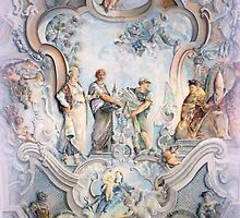 Painted Ceiling in the Parish Church of St. George ~ Böbing  by ©The Creative  Minds