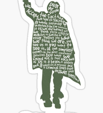 The Breakfast Club - Sincerely Yours Sticker