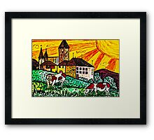 una bella notte al castello(A beautiful night at the Castle) Framed Print