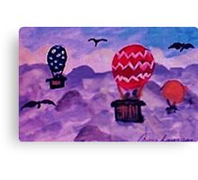 Floating above the clouds, watercolor Canvas Print