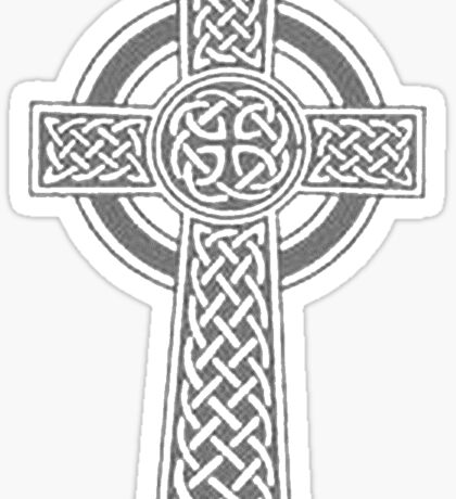 Celtic High Cross Greyscale Sticker