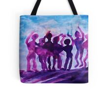 Cheering on the team, watercolor Tote Bag