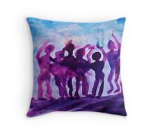 Cheering on the team, watercolor Throw Pillow