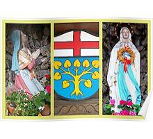 Lourdes Grotto in Böbing Poster