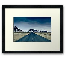 Country road in Iceland Framed Print