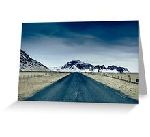 Country road in Iceland Greeting Card