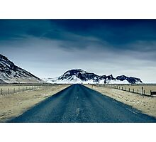 Country road in Iceland Photographic Print