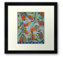 Bottle brush and Thornbills Framed Print