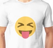 face with stuck-out tongue and tightly-closed eyes emoji Unisex T-Shirt